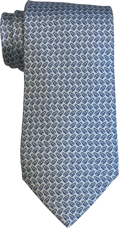 Designer Neckwear Hermes - Corbata con candado, color azul: Amazon ...