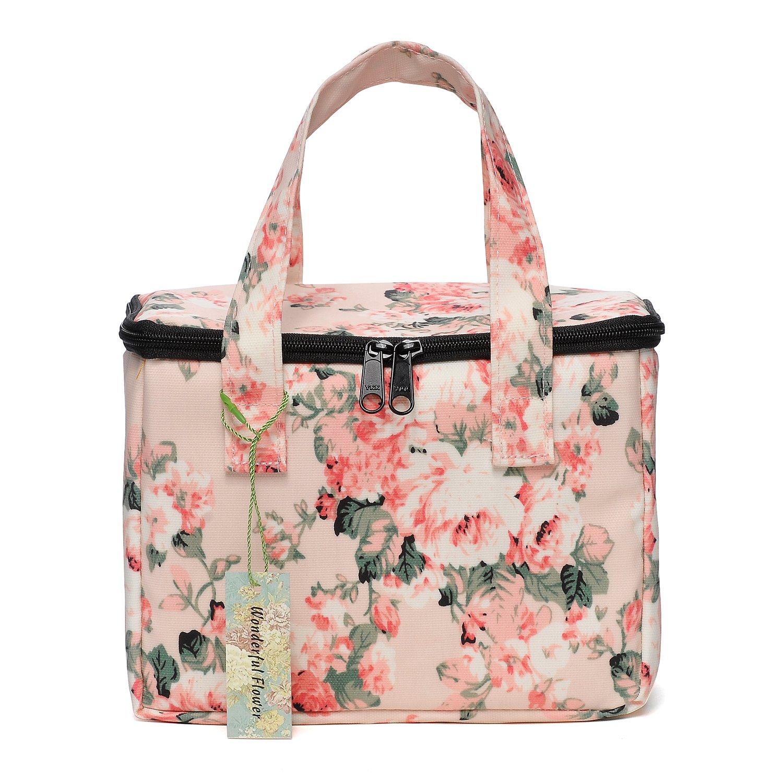 Amazon Wonderful Flower Lunch Box Cooler Bag Lunch Bag Flower