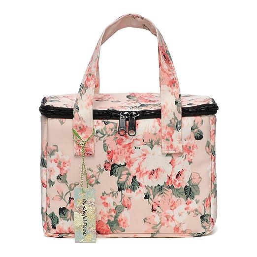 Maravilloso flores caja de almuerzo bolsa térmica bolsa para ...