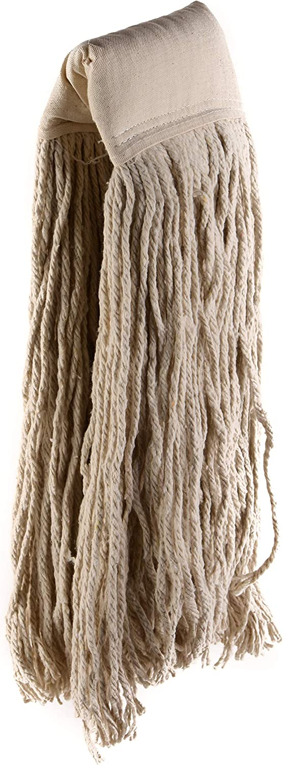 24 Pack Ecoquality Commercial Mop Head 32 32oz Mop Head Blended Yarn X Large For Commercial And Industrial Use Cotton Mop Head Replacement 32 Ounce White Kitchen Dining