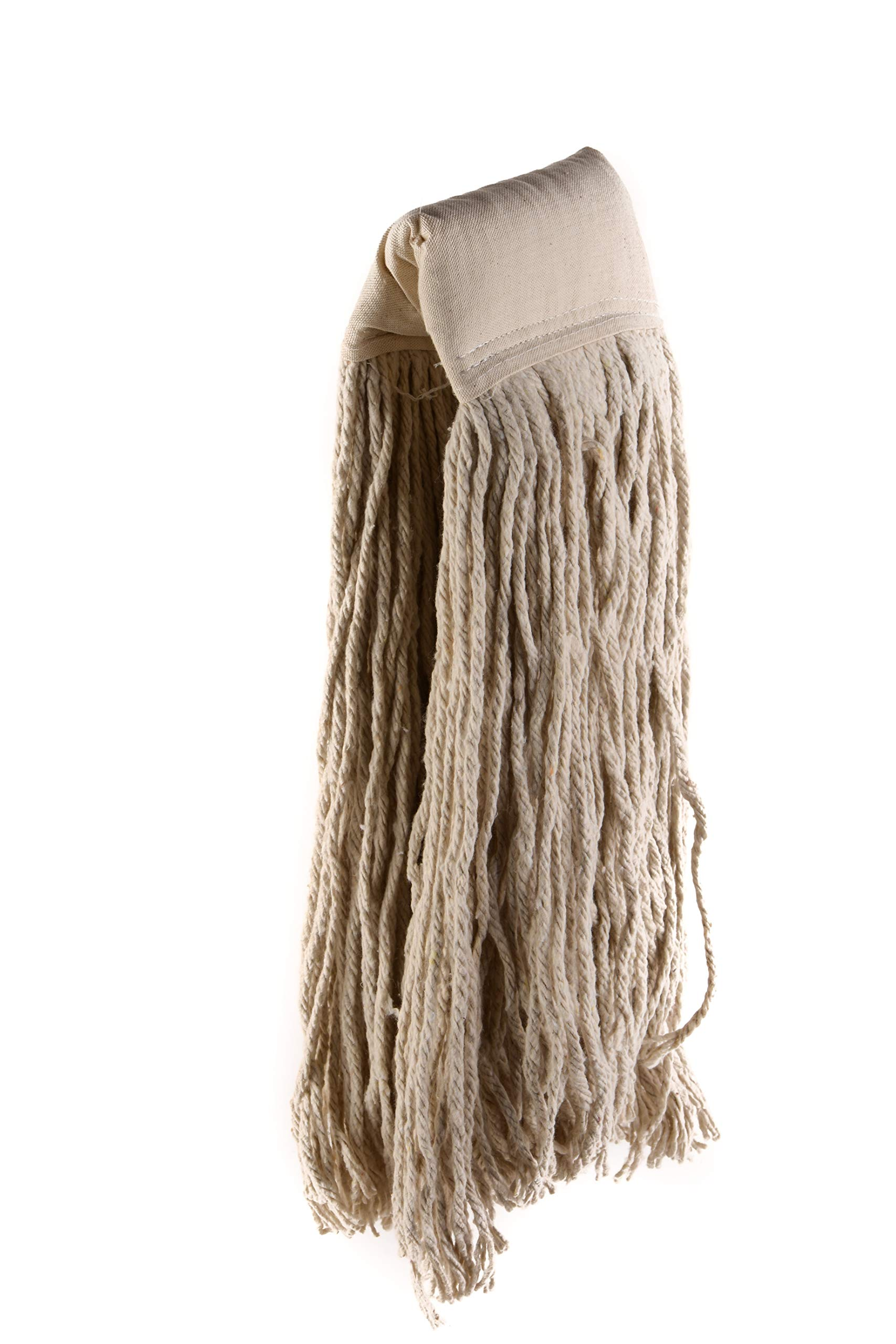 [48 PACK] EcoQuality Commercial Mop Head #32, 32oz Mop Head Blended Yarn - X-Large For Commercial And Industrial Use | Cotton Mop Head Replacement | 32 Ounce (White)