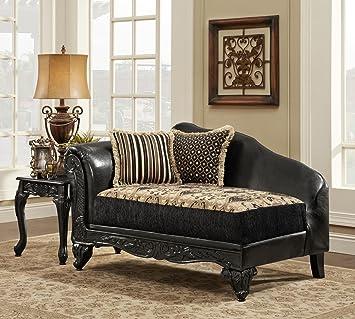 Chelsea Home Furniture Gwendolyn Chaise, Monte Carlo Ebony/Bi Cast Ebony