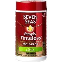 Seven Seas Omega-3 Fish Oil Plus Cod Liver Oil with Garlic 90 Capsules