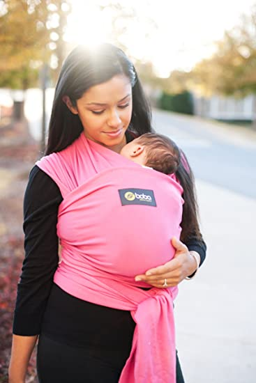 3929414fbf1 Amazon.com   New Boba Wrap in Pink with Matching Carrying Pouch   Infant Baby  Carrier   Preemie - 18months (Previously Sleepy Wrap)   Child Carrier Slings    ...