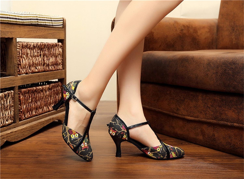 JSHOE Dance Damenschuhe Latin Dance JSHOE Geschlossene Zehe High Heel Salsa Tango Modern Jazz Schuhe Sandalen,schwarz-heeled5cm-UK6.5/EU40/Our41 - 4ed516