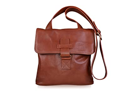 Image Unavailable. Image not available for. Colour  I Medici Firenze Unisex  Large Genuine Italian Brown Leather Crossbody Bag ... 8b05790cc68d8