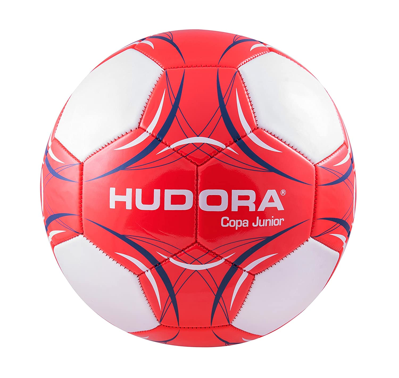 Hudora Ball Copa Junior, tamaño 5–71702/01–Balón de fútbol, Color Rojo/Blanco, Talla única tamaño 5-71702/01-Balón de fútbol Talla única HUDAC|#Hudora