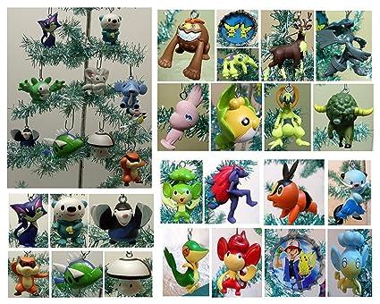 pokemon random 10 piece mini holiday christmas ornament set with 10 randomly selected pokemon character ornaments