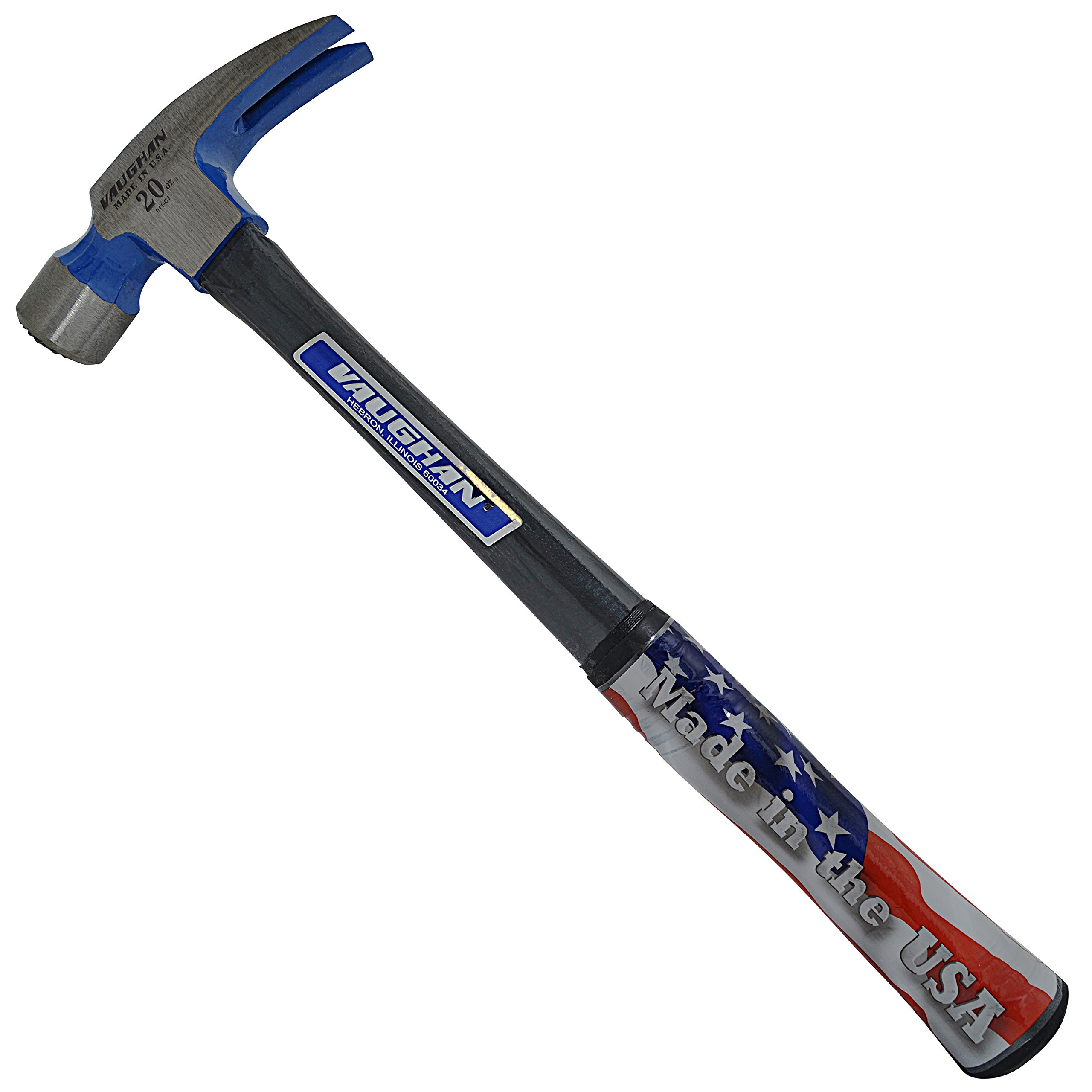 Vaughan FS999ML 20-Ounce -Inch999-Inch Straight Claw Hammer, Milled Face, Straight Fiberglass Handle, 16-Inch Long