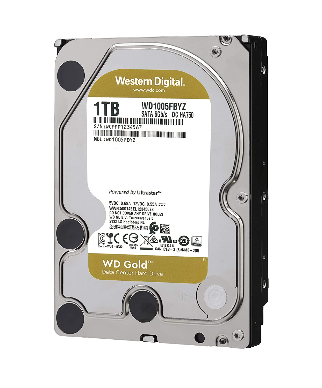 WD Gold 1TB Enterprise Class Hard Disk Drive - 7200 RPM Class SATA 6 Gb/s 128MB Cache 3.5 Inch - WD1005FBYZ