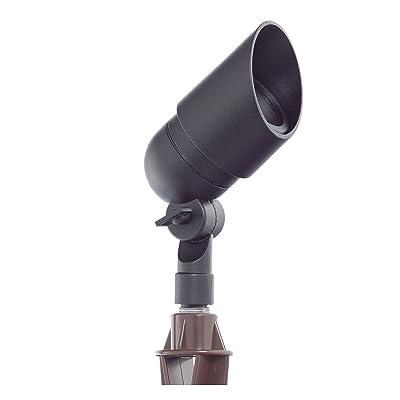 Westgate Lighting LED Directional Light- Aluminum Black Landscape Light–Flat Glass Lens LED Directional Light-Warm White LED Light- 1 Year Warranty (1 Black)
