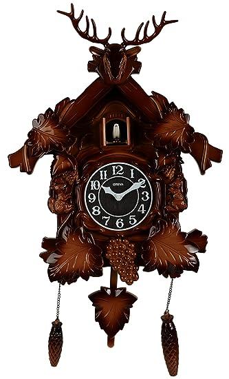 Buy Oreva Plastic Pendulum Cuckoo Wall Clock 36 Cm X 12 Cm X 40 Cm Brown Wood Aq 4177 Online At Low Prices In India Amazon In