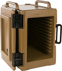 Carlisle IT40043 Cateraide IT End Loading Insulated Food Pan Carrier, 6 Pan Capacity, Caramel