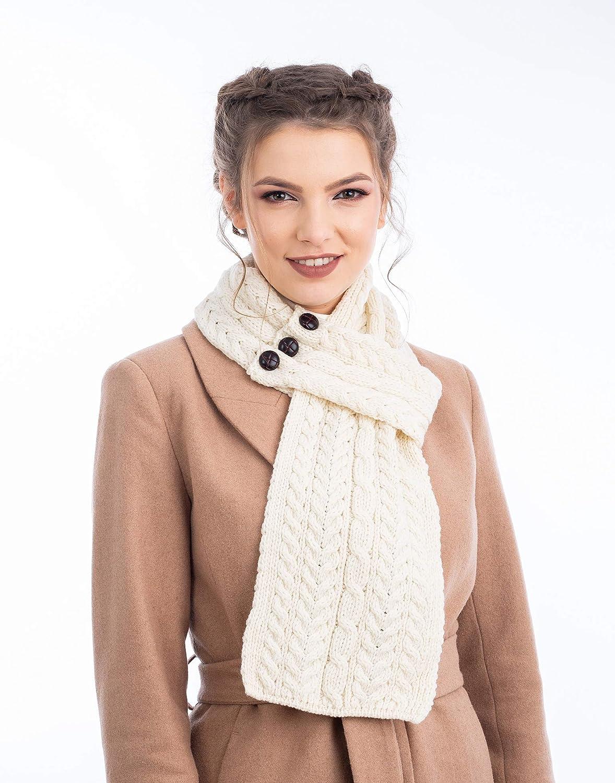 Aran Loop Wool Scarf