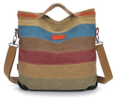 Amazon.com: Winkine Women Retro Canvas Hobo Bag - Tote Bags ...
