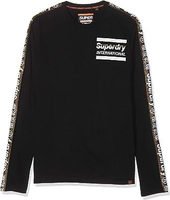 Superdry International Monochrome L/S tee Camisa Manga Larga para Hombre