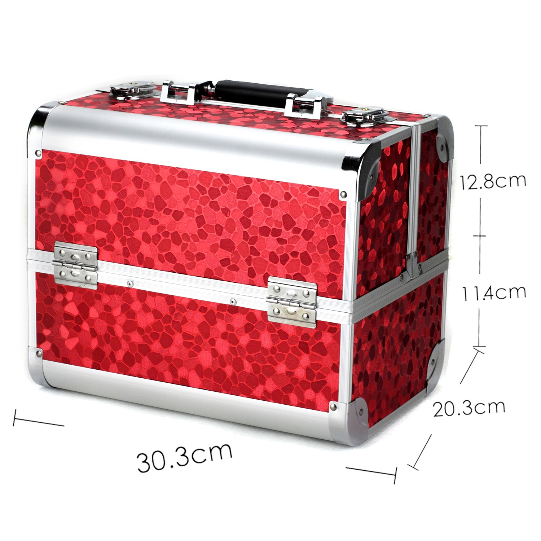 Glow Professional beauty case trucco gioielli nail polish beauty box beauty accessori Storage Case (Red) Paragon Enterprise Limited