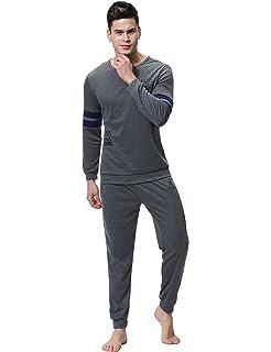 Aibrou Pijamas de Ropa de Dormir de 100% Algodón Set de Agradable Tacto y Cómodo