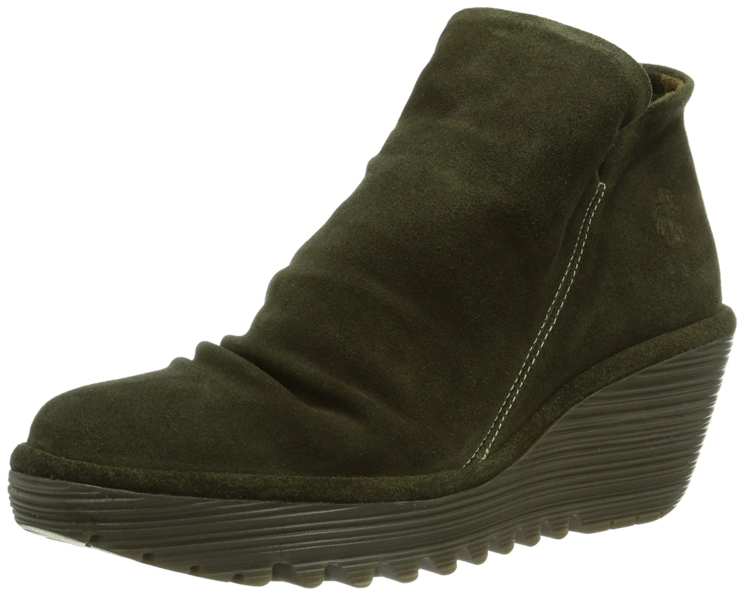 FLY London Women's Yip Boot B00IYJEE8I 41 M EU / 10 B(M) US|Sludge