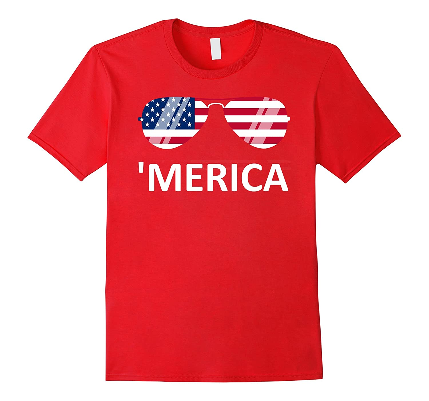 'Merica Sunglasses T-Shirt 4th of July-TH