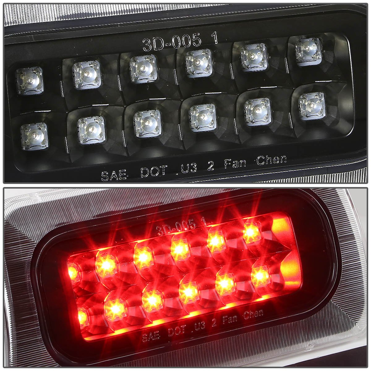 DNA Motoring 3BL-GMCSON-LED-RD Third Brake Light