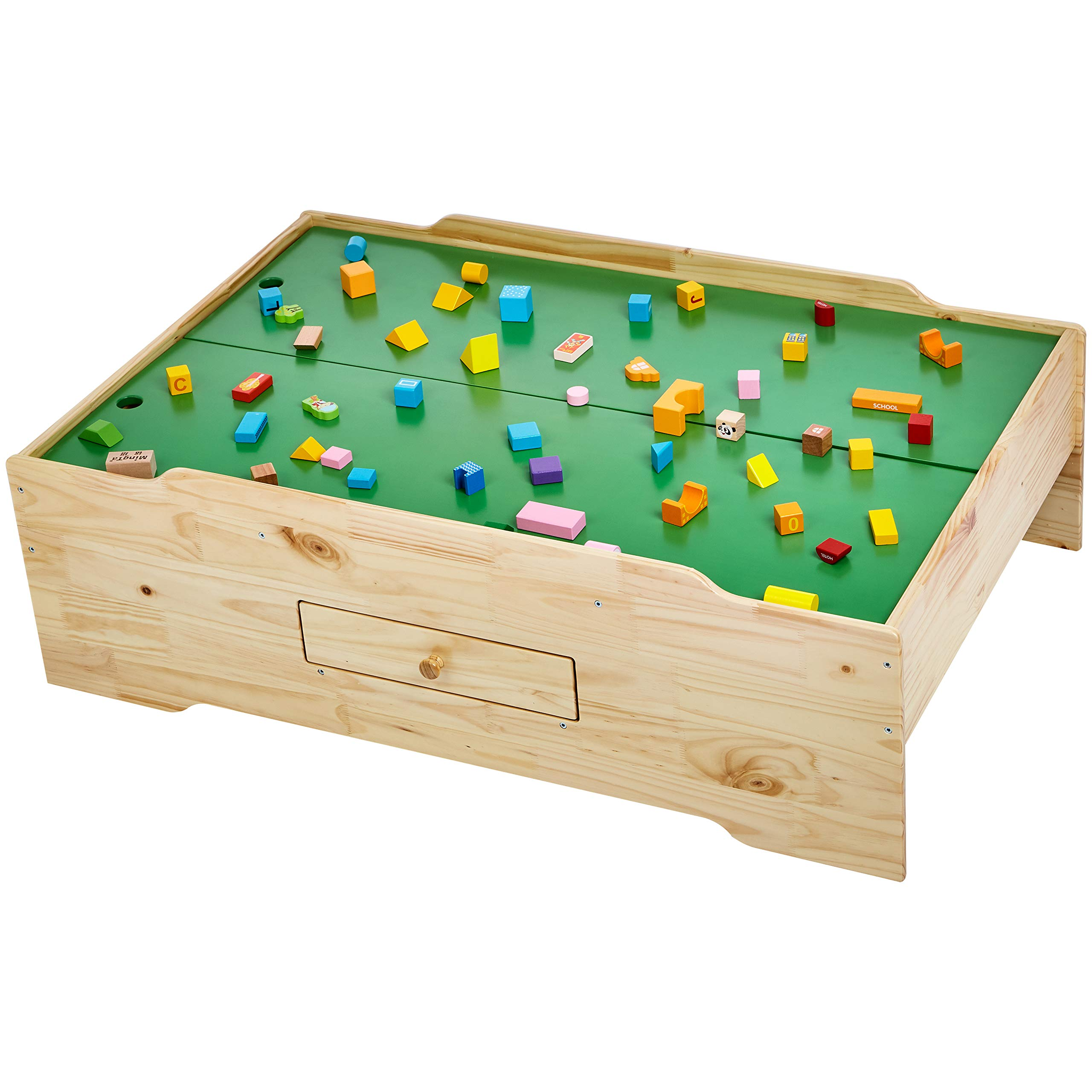 AmazonBasics Wooden Multi-Activity Play Table, Natural by AmazonBasics (Image #5)