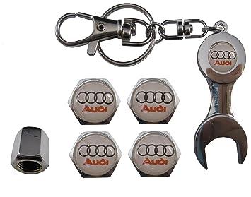 Valvulas de acero inoxidable para coche + llavero Audi ...