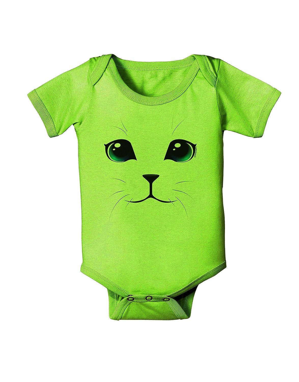 TooLoud Blue-Eyed Cute Cat Face Baby Romper Bodysuit