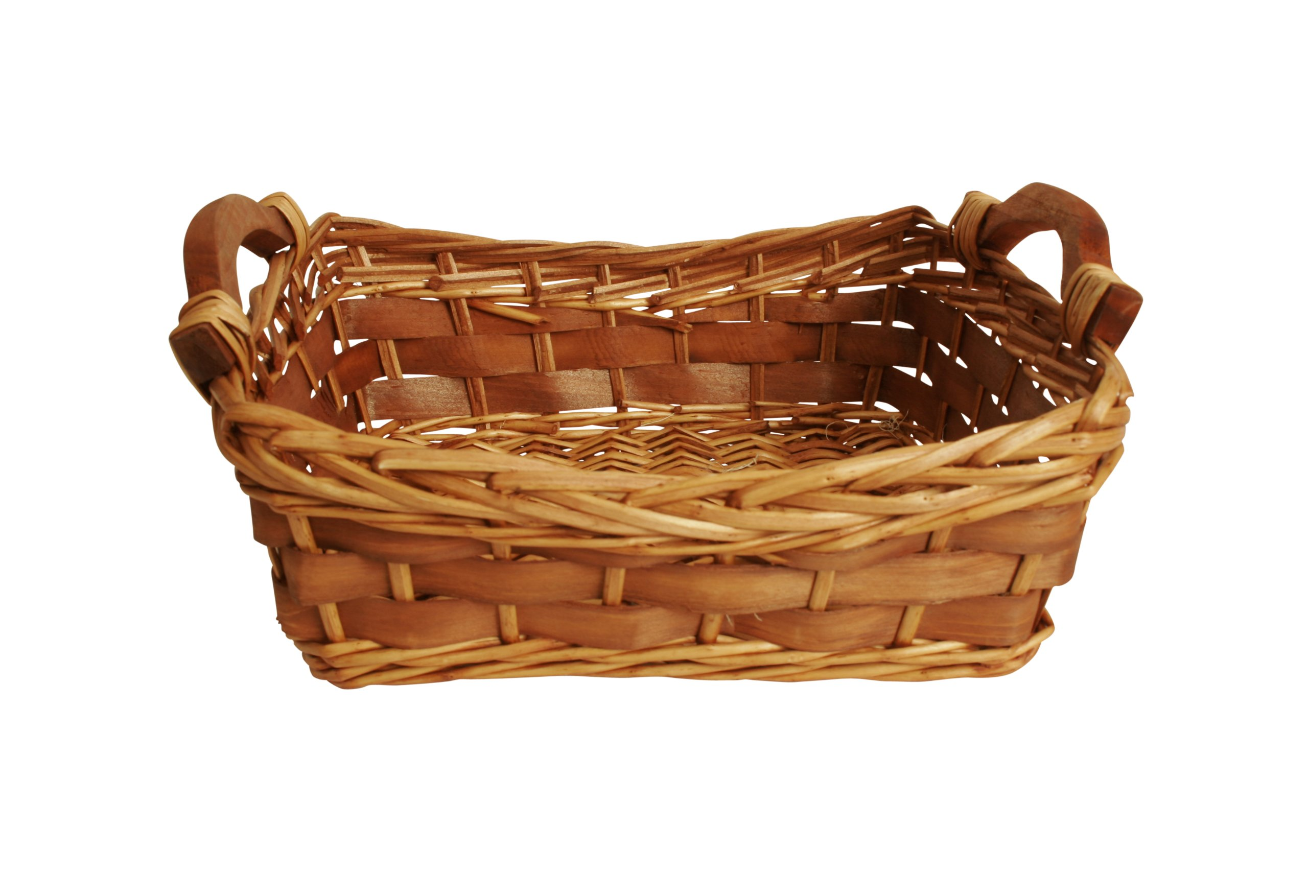 Wald Imports Brown Willow & Woodchip 12'' Decorative Storage Basket by Wald Imports (Image #1)