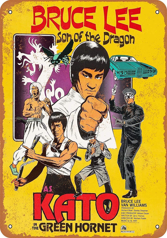 Forry Bruce Lee M/étal Mur Affiche Vintage Plaque /Étain Signe R/étro D/écorer Artisanat pour Caf/é Bar Garage Salon Chambre