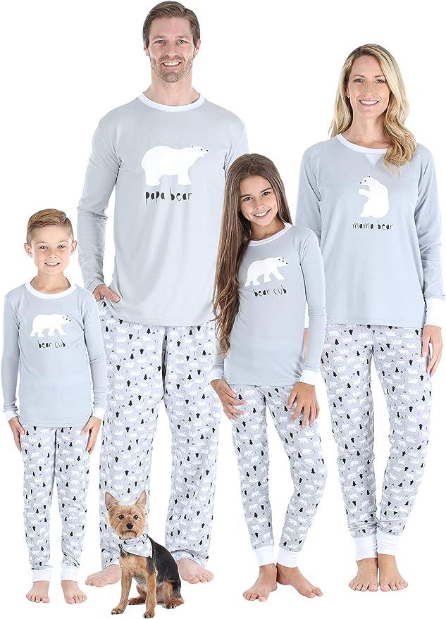 Infant SHM-4038-I-CAN-18M Sleepyheads Holiday Family Matching Polar Bear Pajama PJ Sets