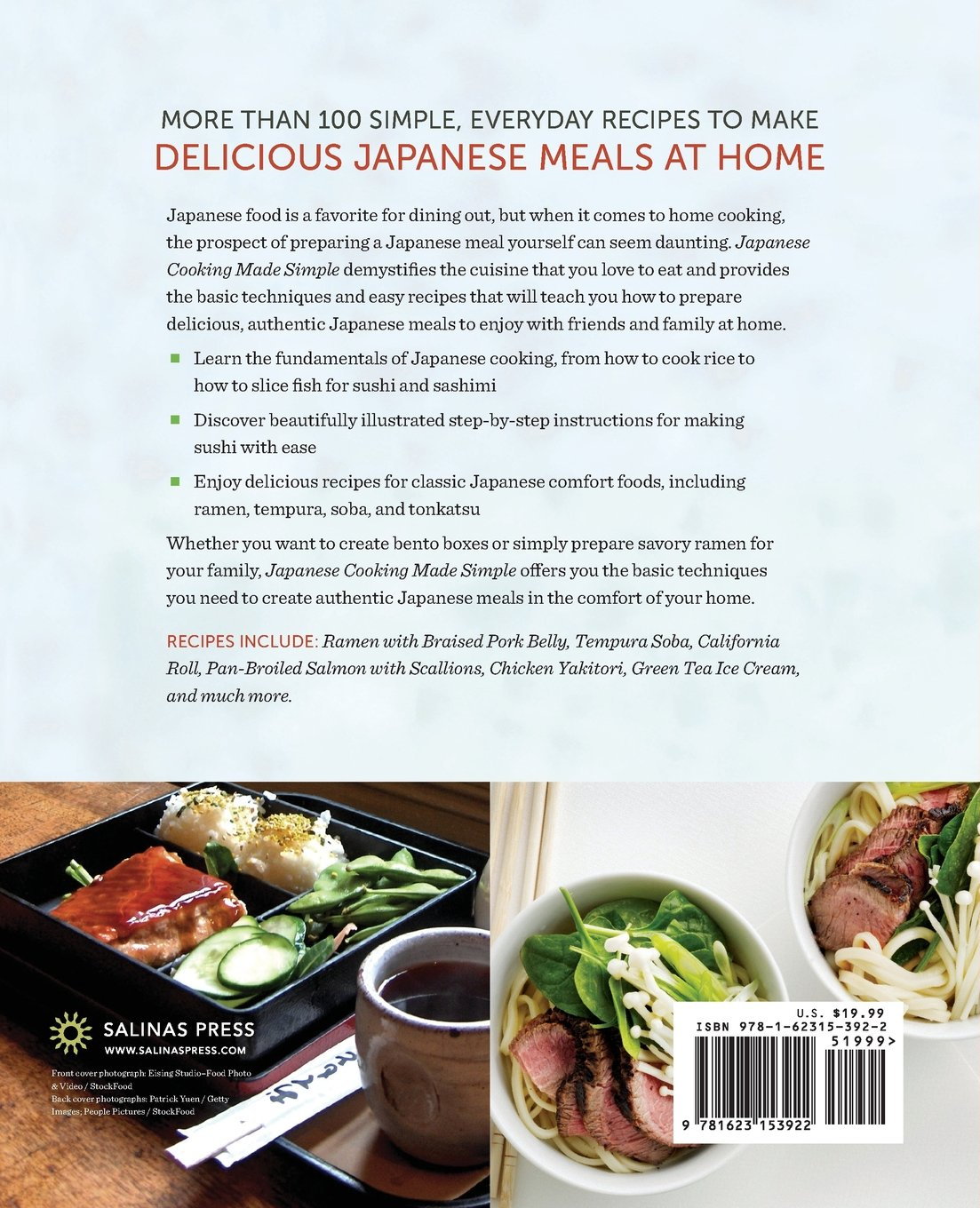 Japanese Cooking Made Simple A Cookbook With Authentic Recipes For Ramen Bento Sushi More Salinas Press 9781623153922 Amazon Books