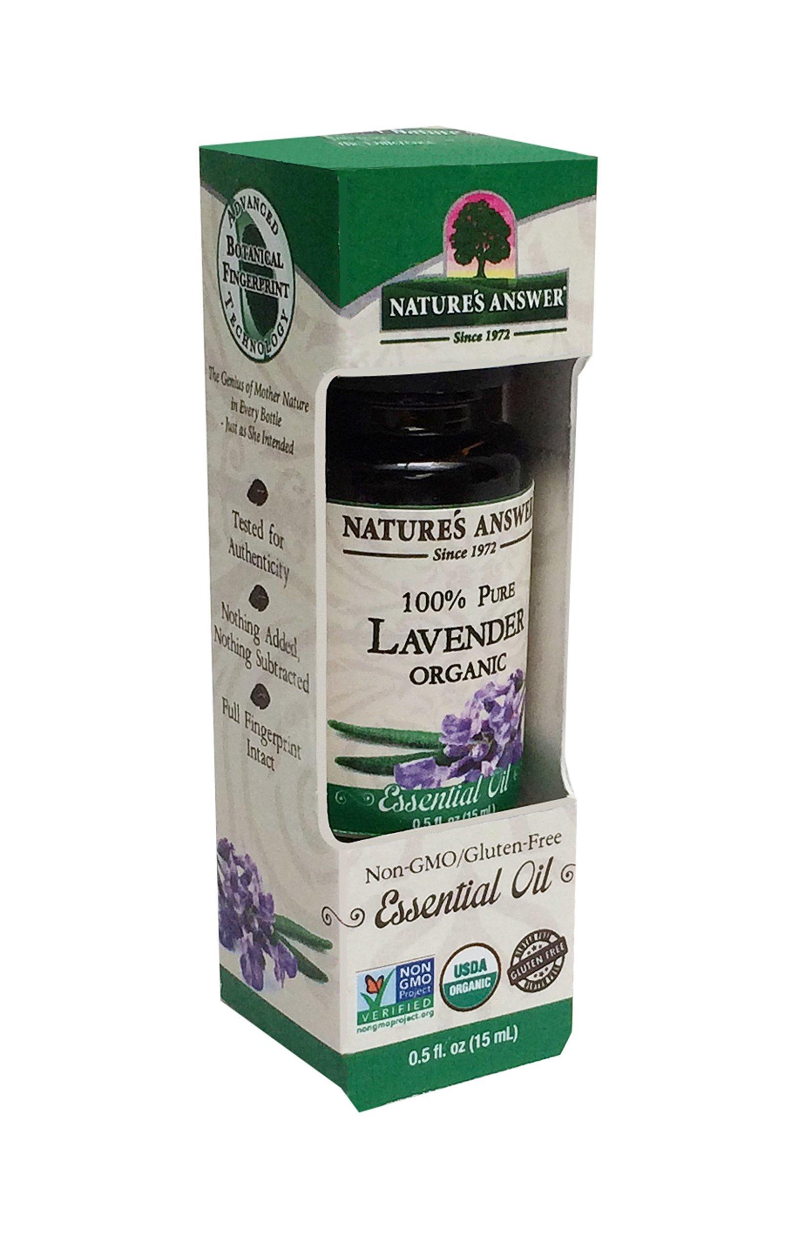 Nature's Answer 100% Pure Organic Essential Oil, Lavender, 0.50 oz