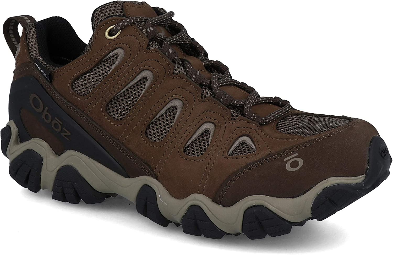 Oboz Mens Sawtooth II Low B-Dry Waterproof Hiking Shoe