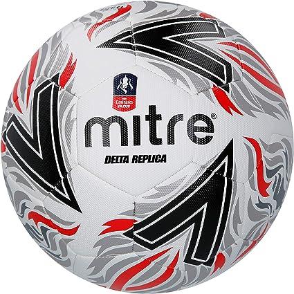 Mitre Delta - Réplica de fútbol FA Cup, Color Negro /Rojo, tamaño ...