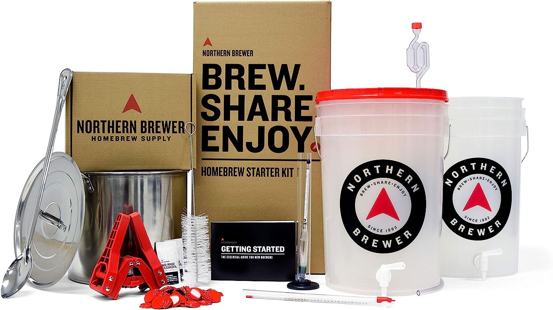 Northern Brewer - Brew. Share. Enjoy. HomeBrewing Starter Set, Equipment and Recipe for 5 Gallon Batches (Hank's Hefeweizen)