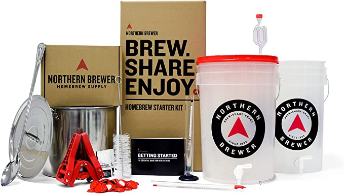 Northern Brewer - Brew. Share. Enjoy. HomeBrewing Starter Set, Equipment and Recipe for 5 Gallon Batches (Block Party Amber with Testing Equipment)