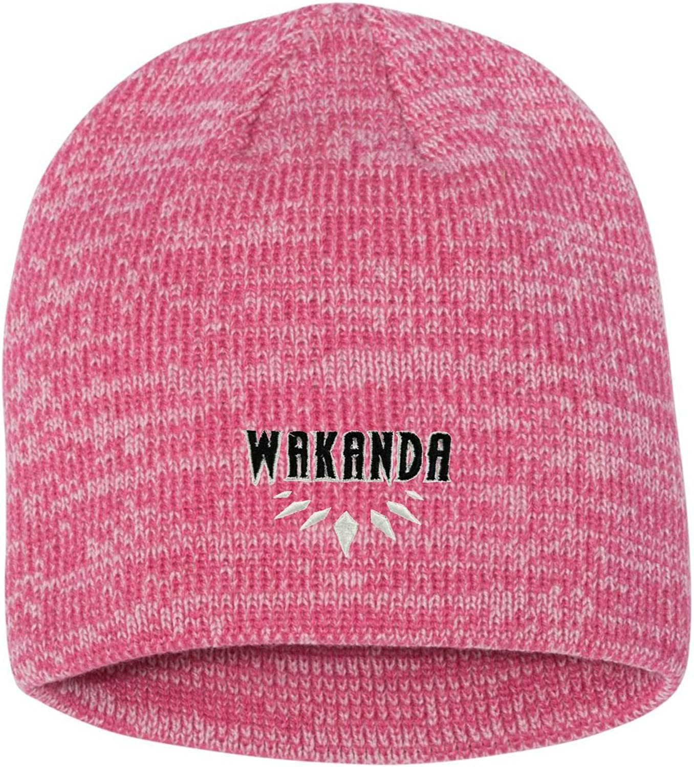 Go All Out Adult Wakanda Embroidered Marled Knit Beanie Cap