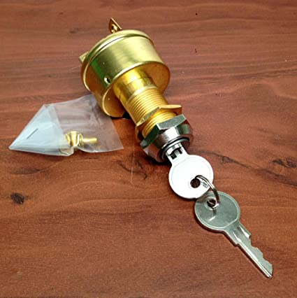 Boat Marine ignition Switch Brass Style 3 Position Off-Ignition-Start 3 Terminal