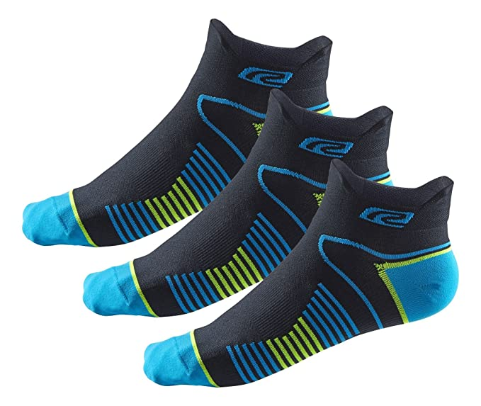 R-Gear Super Performance Athletic Running Socks (3 Pairs) for Men/Women |  No Show, Double Tab, Thin
