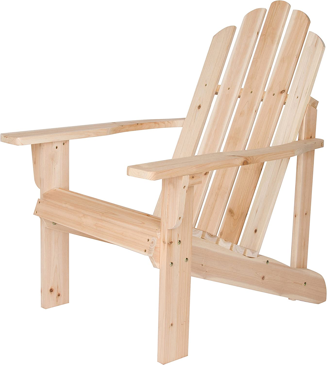 Shine Company Inc. 4618N Marina Adirondack Chair, Natural : Garden & Outdoor
