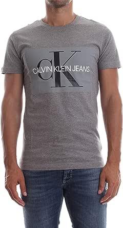 Calvin Klein Jeans Men's Monogram Box Logo Slim T-Shirt