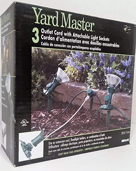 Amazon.com: Yard Master 17322 25-Feet 3-Outlet Extension ...