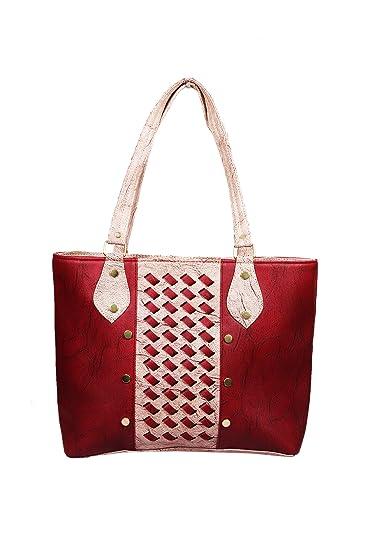 Ritupal Collection Women Shoulder Handbag PU (Maroon)  Amazon.in ... 1753e1636612d