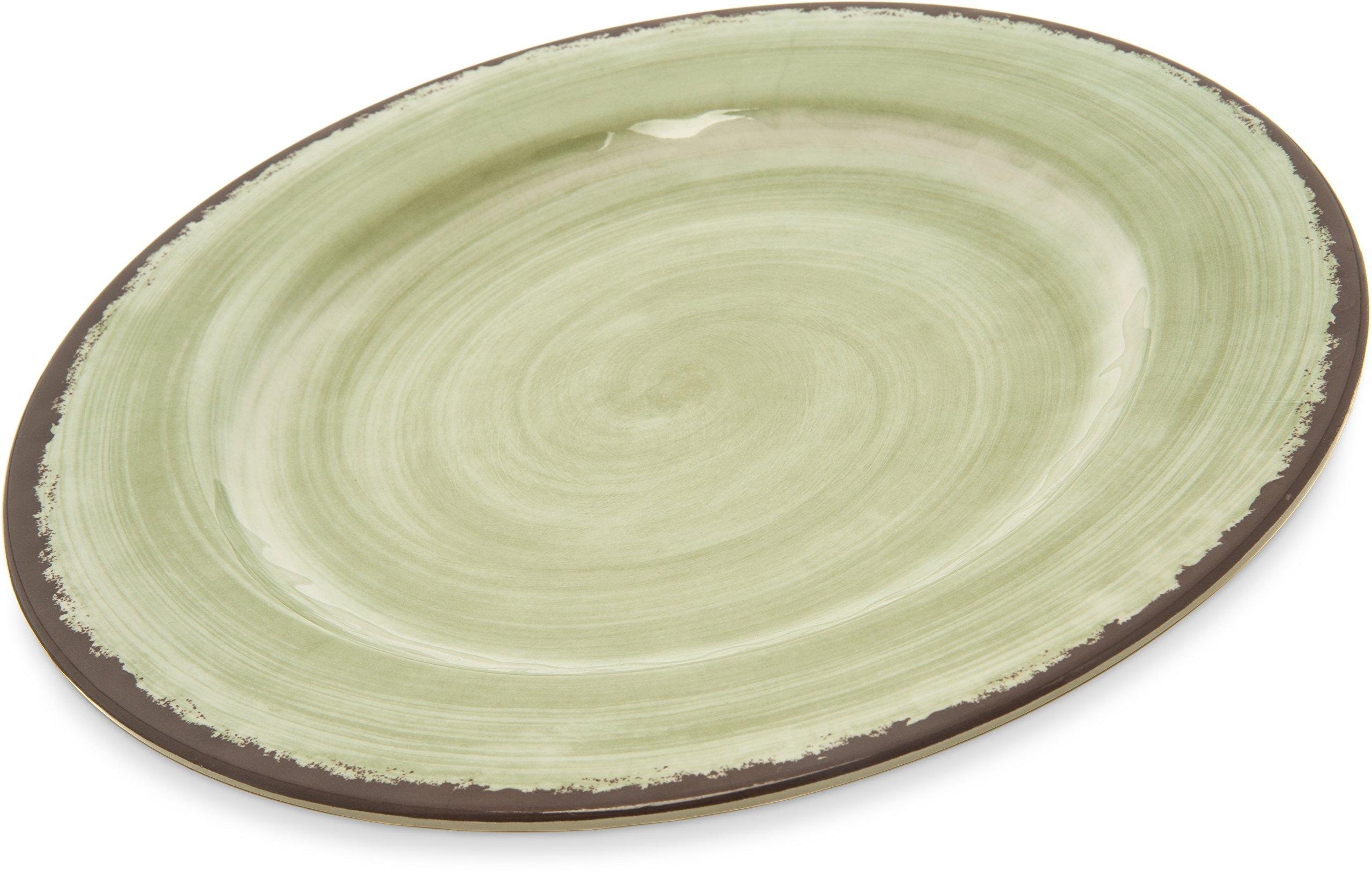 Carlisle 5400146 Mingle Melamine Dinner Plate, 11'', Jade (Set of 12)