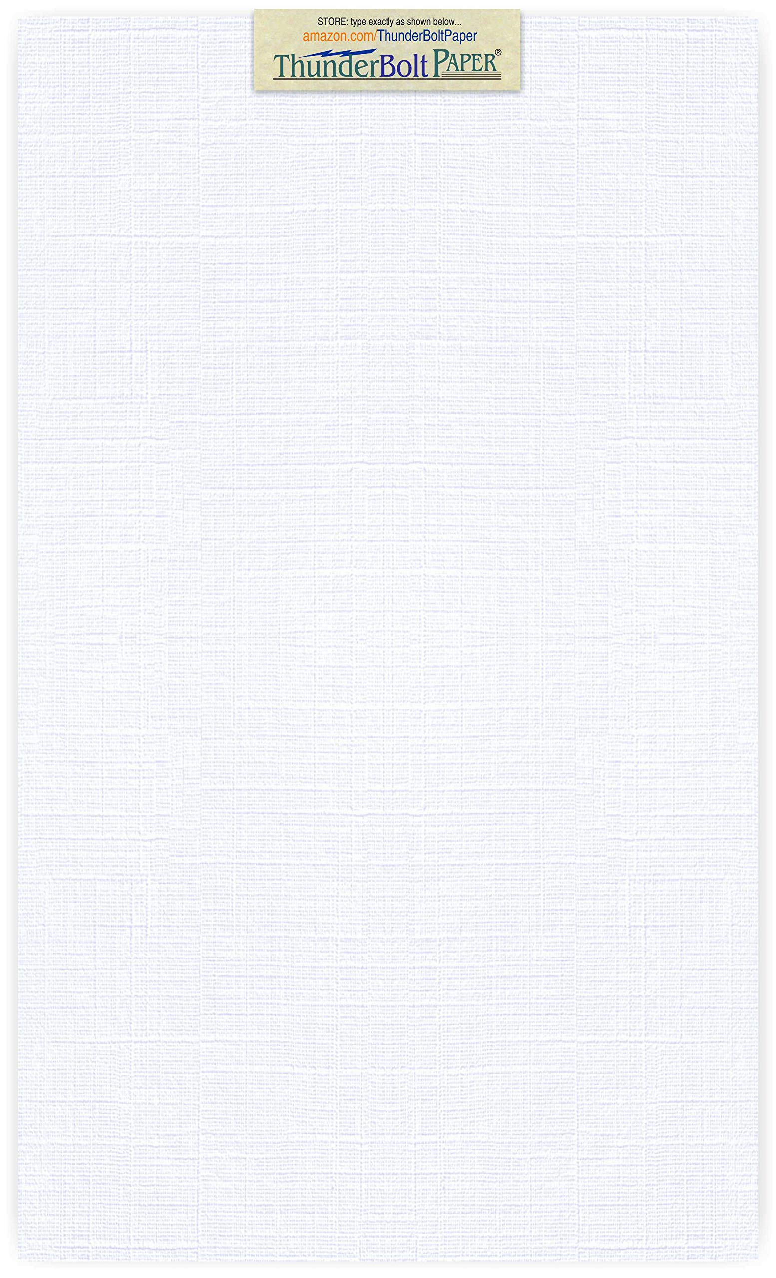 100 Bright White Linen 80# Cover Paper Sheets - 8.5'' X 14'' (8.5X14 Inches) Legal|Menu Size - 80 lb/Pound Card Weight - Fine Linen Textured Finish Quality Cardstock