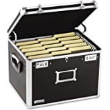 Vaultz VZ01008 Locking File Chest, Letter/Legal, 17 1/2 x 14 x 12 1/2, Black