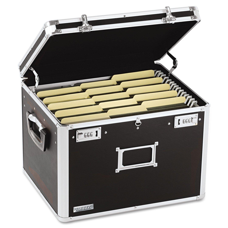Vaultz VZ01008 Locking File Chest, Letter/Legal, 17 1/2 x 14 x 12 1/2, Black by Vaultz