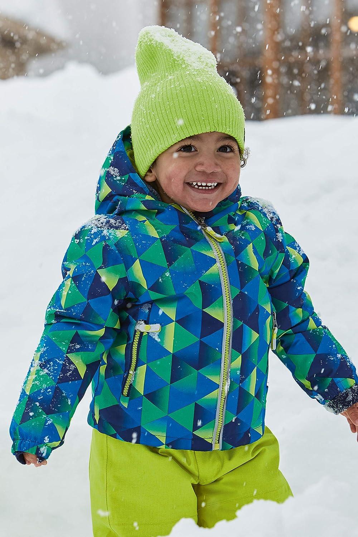 neon Blue Killtec Jungen Viewy MNS Ski Jckt A Funktionsjacke Mit Kapuze Und Schneefang 122//128