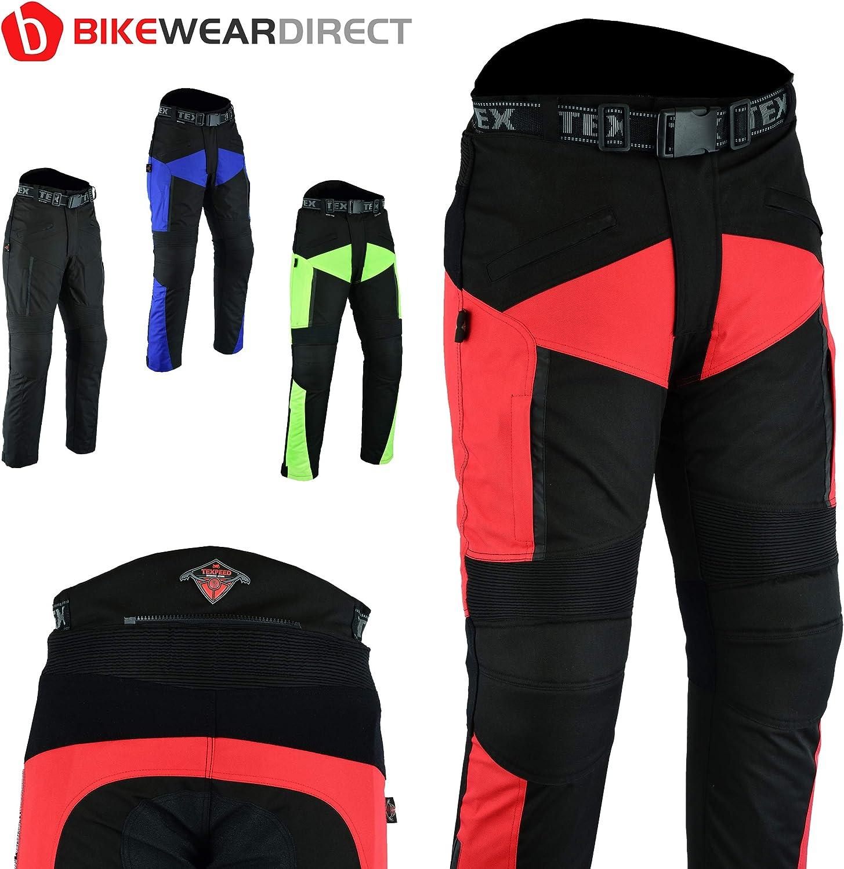 Texpeed XTRA Mit Schutz Wasserdichte Motorradhose in 4 Farben und verschiedenen Gr/ö/ßen
